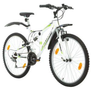 26 Zoll, Klapp Mountainbike, 18-Gang, Unisex, Weiß